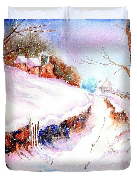 Winter Snow Duvet Cover