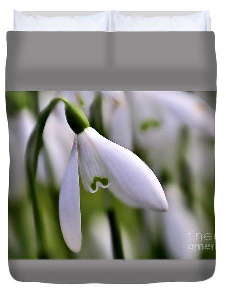 Winter Snowdrop Duvet Cover