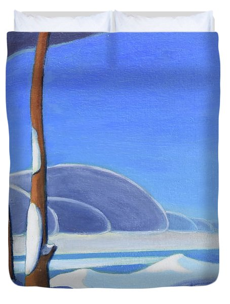 Winter Solace II Duvet Cover
