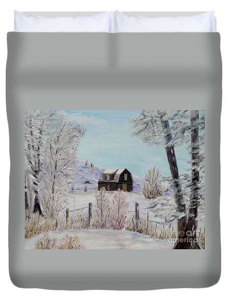 Winter Solace Duvet Cover