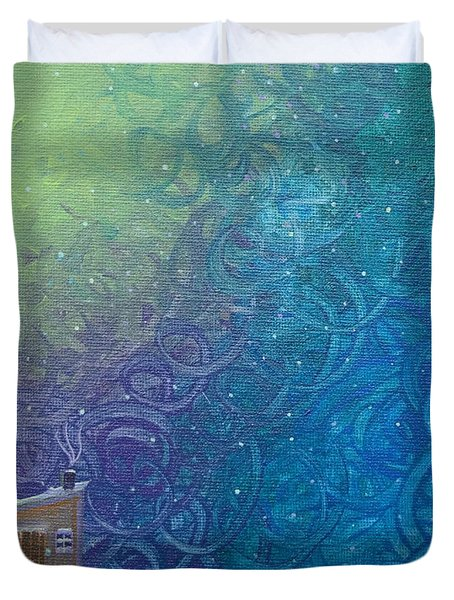 Winter Solitude 2 Duvet Cover by Jacqueline Athmann