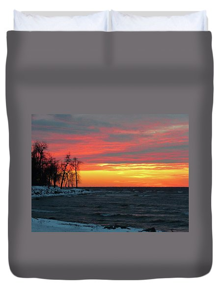 Winter Solstice Eve Duvet Cover