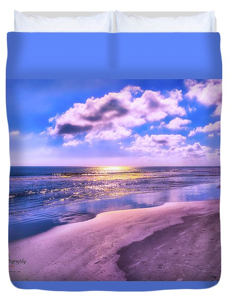 Winter Solstice Sunrise Duvet Cover