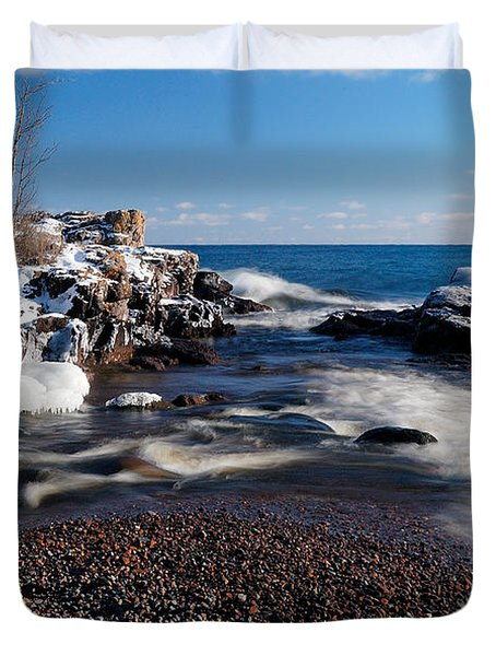 Winter Splash Duvet Cover by Sebastian Musial