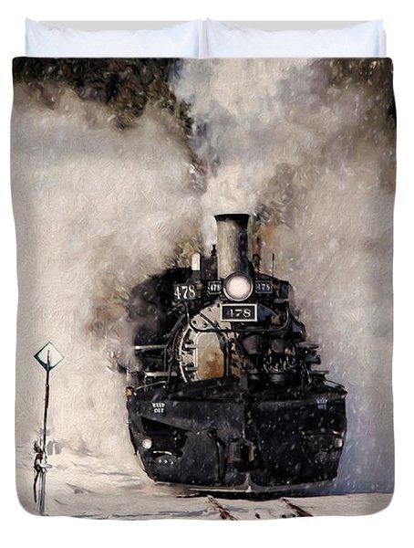 Winter Steam At Rockwood Colorado Duvet Cover