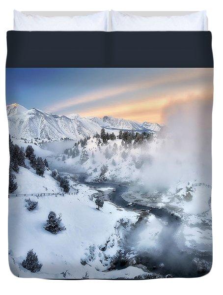 Winter Steam  Duvet Cover by Nicki Frates