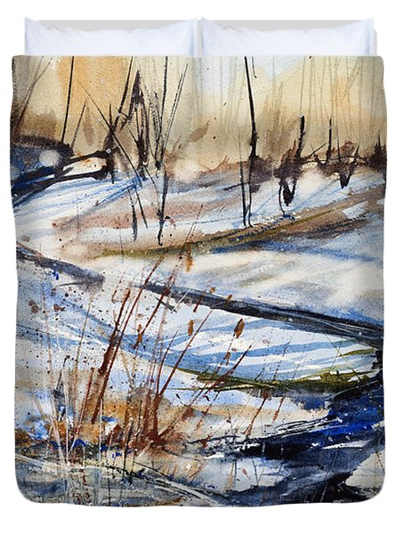 Winter Stream Duvet Cover by Judith Levins