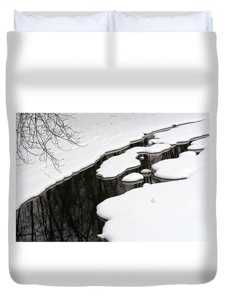 Winter Stream  Duvet Cover