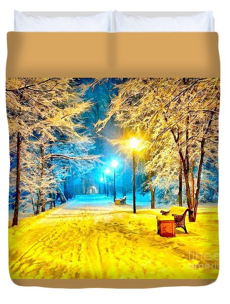 Winter Street Duvet Cover