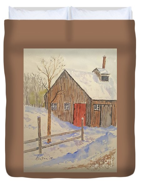 Winter Sugar House Duvet Cover