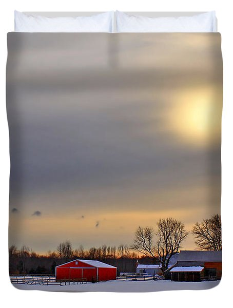 Winter Sun Duvet Cover by Evelina Kremsdorf