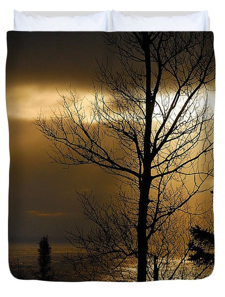 Winter Sunrise 1 Duvet Cover by Sebastian Musial