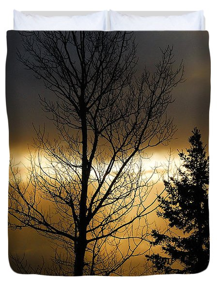 Winter Sunrise 2 Duvet Cover by Sebastian Musial