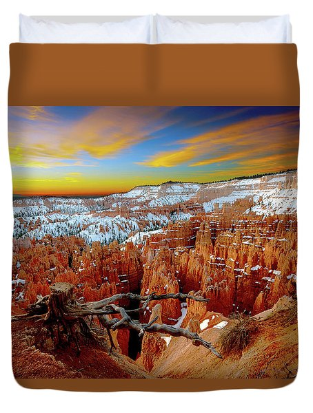 Winter Sunrise At Bryce Duvet Cover