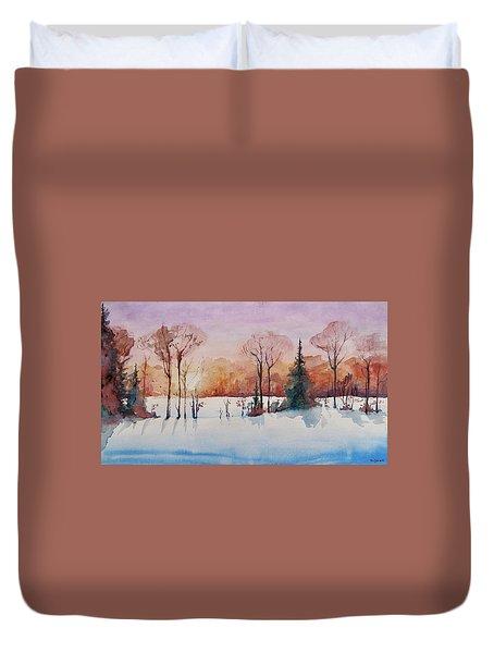Winter Sunrise Duvet Cover by Geni Gorani