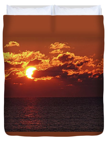 Winter Sunrise Duvet Cover by Greg Graham