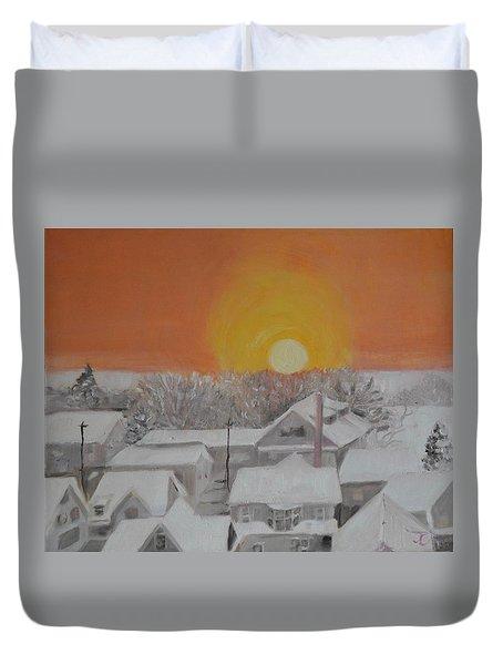 Winter Sunrise Duvet Cover