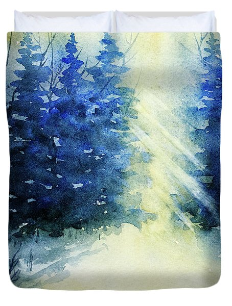 Winter Sunrise Duvet Cover by Rebecca Davis