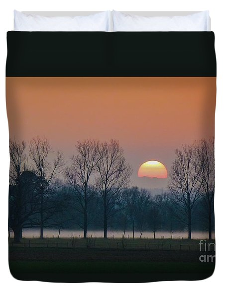 Winter Sunset 1 Duvet Cover