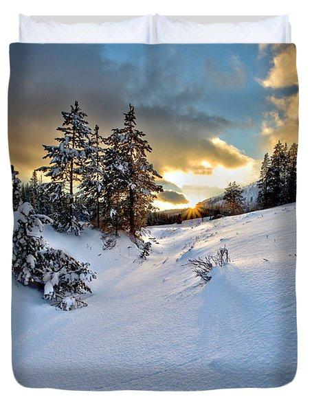 Winter Sunset Duvet Cover