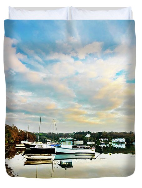 Winter Sunset Duvet Cover by Terri Waters