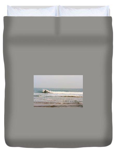 Winter Surfer Duvet Cover