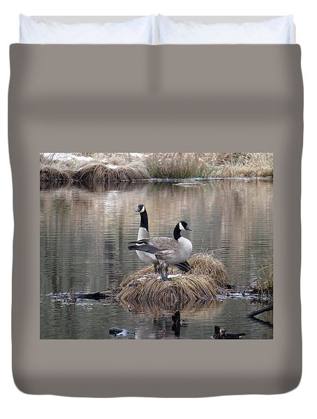 Winter Surprise Duvet Cover by I'ina Van Lawick