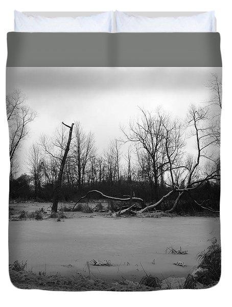 Winter Swamp Duvet Cover