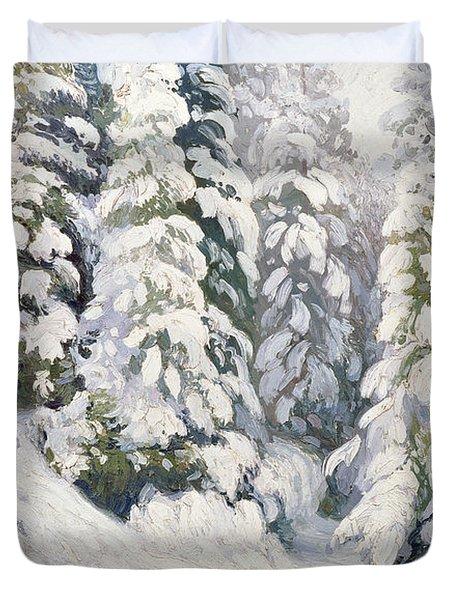 Winter Tale Duvet Cover by Aleksandr Alekseevich Borisov