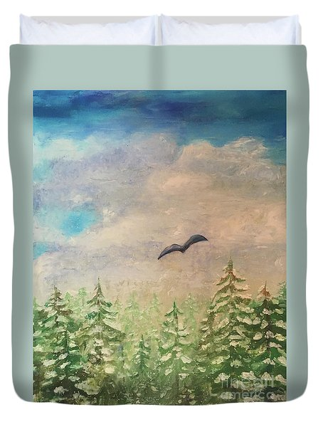 Winter To Spring Duvet Cover