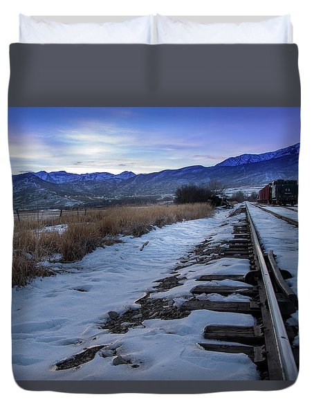 Winter Tracks Duvet Cover