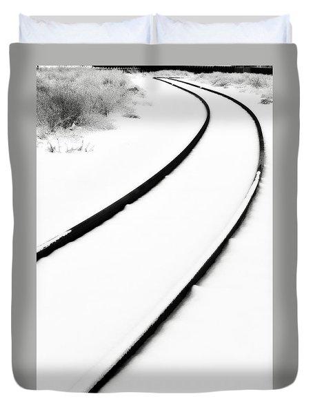 Winter Tracks Duvet Cover