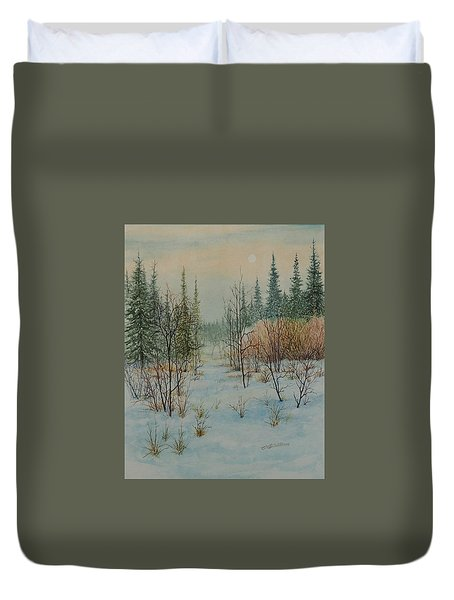 Winter Trail Alberta Duvet Cover