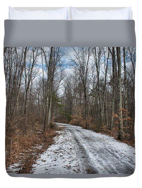 Winter Trail Duvet Cover