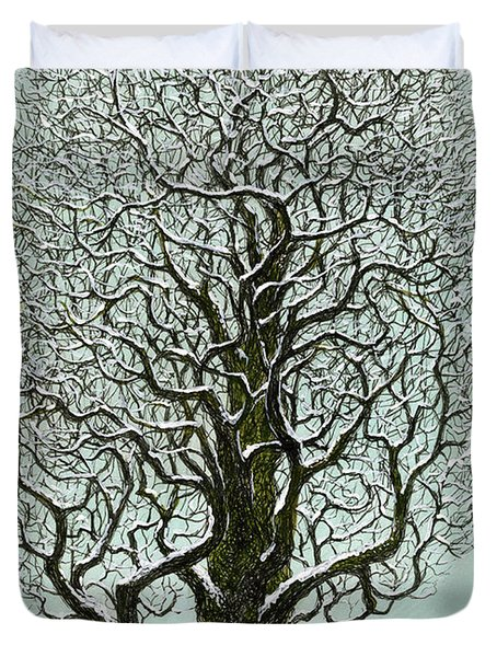 Winter Tree 2009 Duvet Cover by Charles Cater
