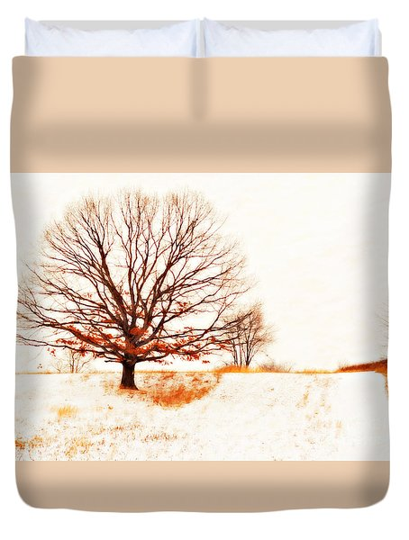 Winter Tree Duvet Cover by Randy Steele