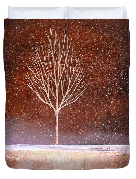 Winter Tree Duvet Cover by Toni Grote