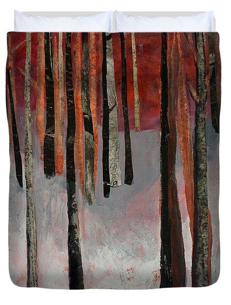 Winter Trees 1 Duvet Cover