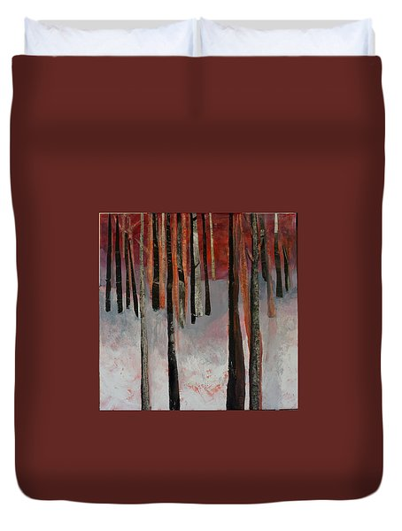 Winter Trees 1 Duvet Cover