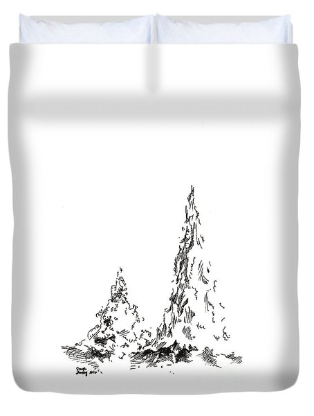 Winter Trees 2 - 2016 Duvet Cover