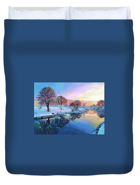 Winter Trees Duvet Cover by Conor McGuire