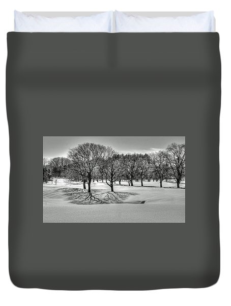 Duvet Cover featuring the photograph Winter Trees by Wayne Marshall Chase