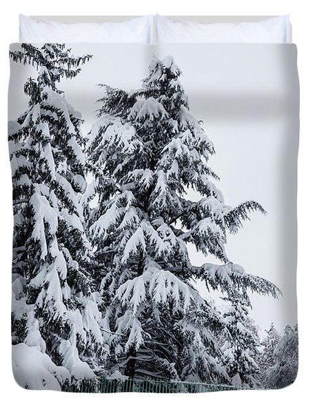 Winter Trekking-2 Duvet Cover