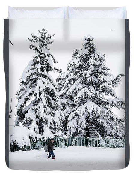 Winter Trekking Duvet Cover