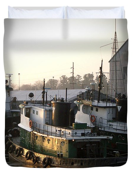 Winter Tugs Duvet Cover