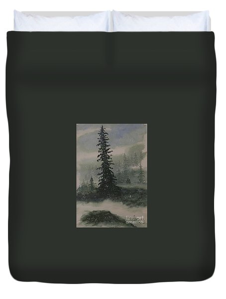 Winter Up North Duvet Cover