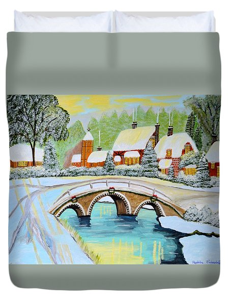 Winter Village Duvet Cover