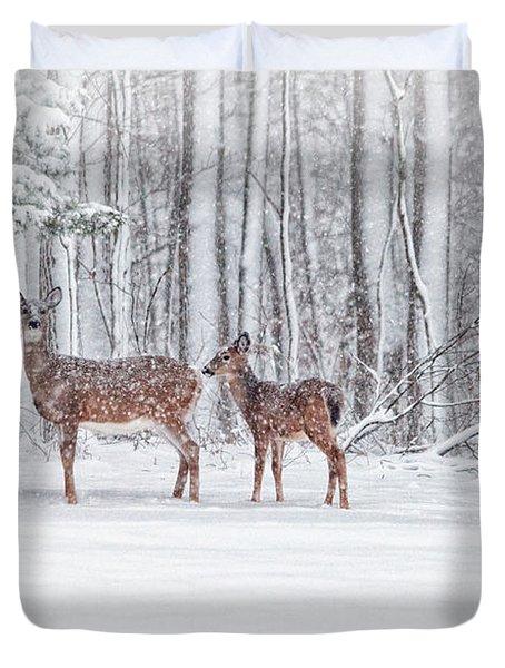 Winter Visits Duvet Cover