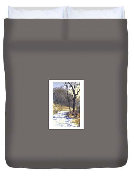 Winter Walk Duvet Cover