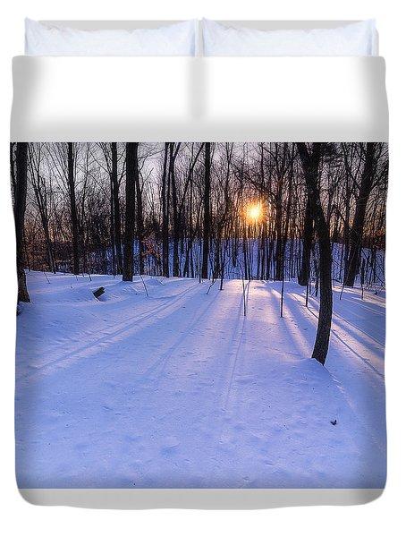 Winter Walks Continue Duvet Cover